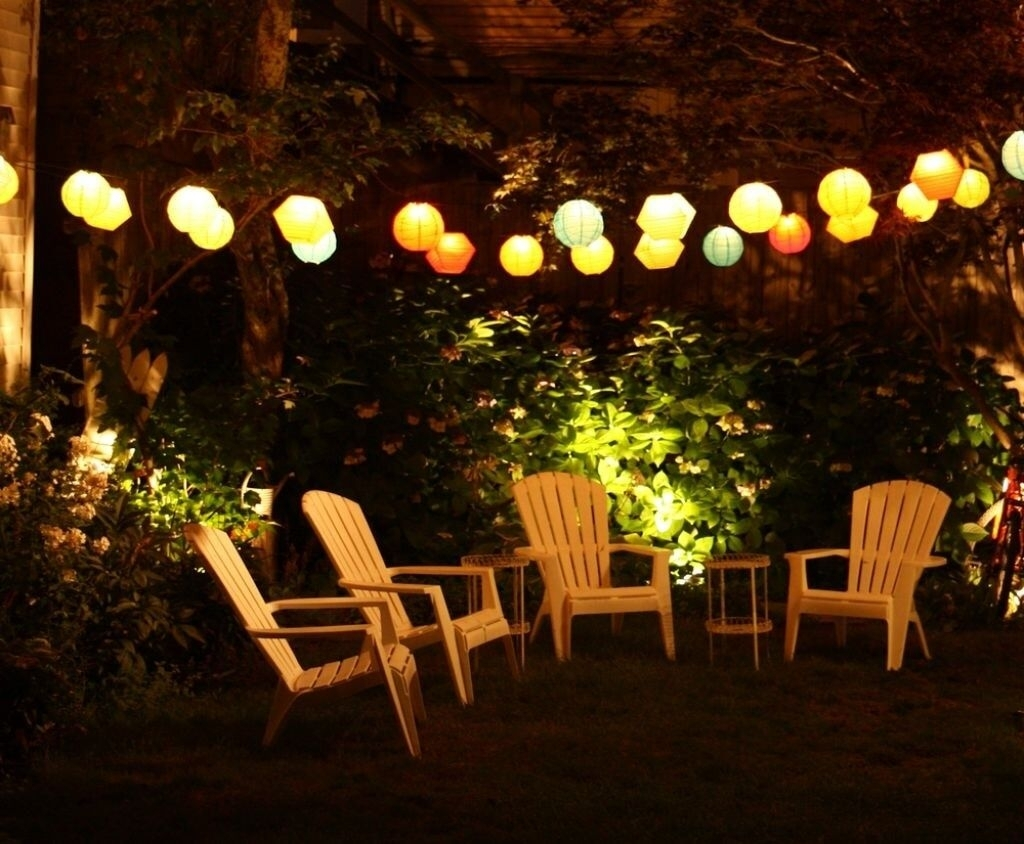 27 Pretty Backyard Lighting Ideas For Your Home | Backyard, Outdoor For Outdoor Chinese Lanterns For Patio (Gallery 4 of 20)