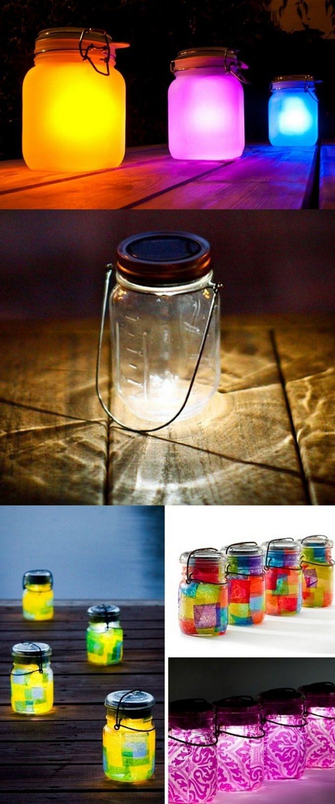 28 Stunning Diy Outdoor Lighting Ideas ( & So Easy! ) | Hometalk intended for Outdoor Jar Lanterns (Image 1 of 20)