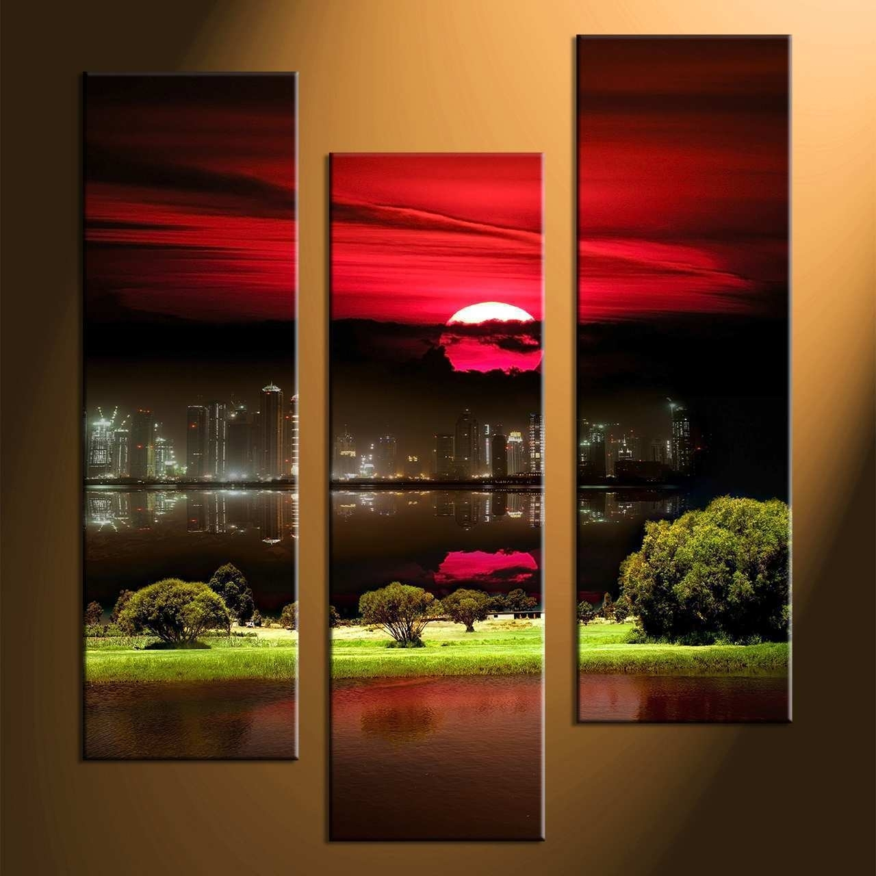3 Canvas Paintings Beautiful 3 Piece Canvas Wall Art | Painting Ideas For 3 Piece Canvas Wall Art (View 4 of 20)
