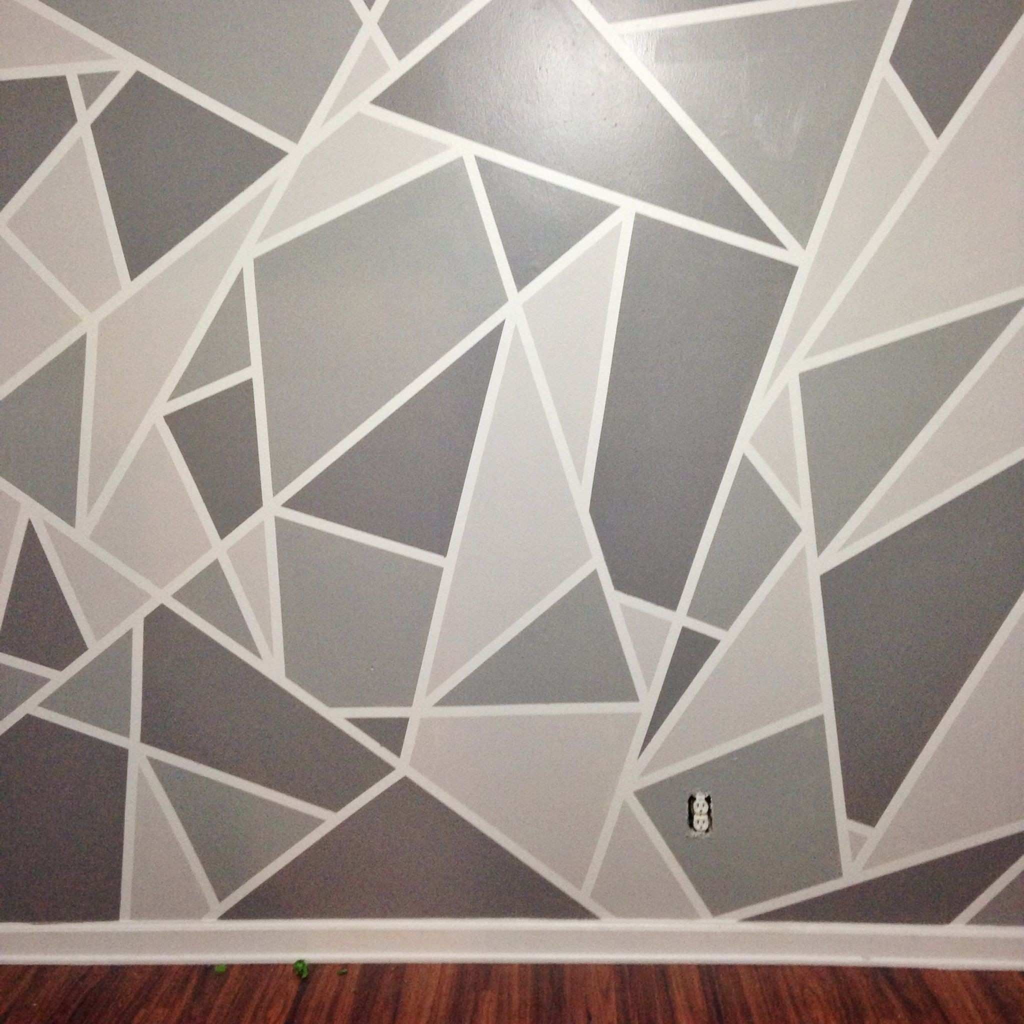 3 Dimensional Wall Art Lovely Diy Faux Wallpaper Accent Wall Regarding 3 Dimensional Wall Art (View 4 of 10)