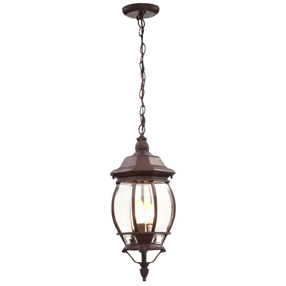 3 Light Outdoor Hanging Incandescent Lantern Old Bronze Weather With Outdoor Weather Resistant Lanterns (View 2 of 20)