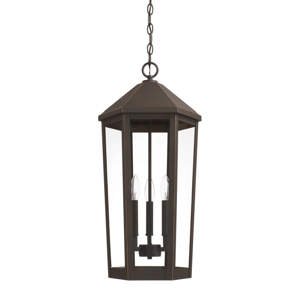 3 Light Outdoor Hanging Lantern : 926933Oz | Lighting & Design with regard to Outdoor Hanging Electric Lanterns (Image 2 of 20)