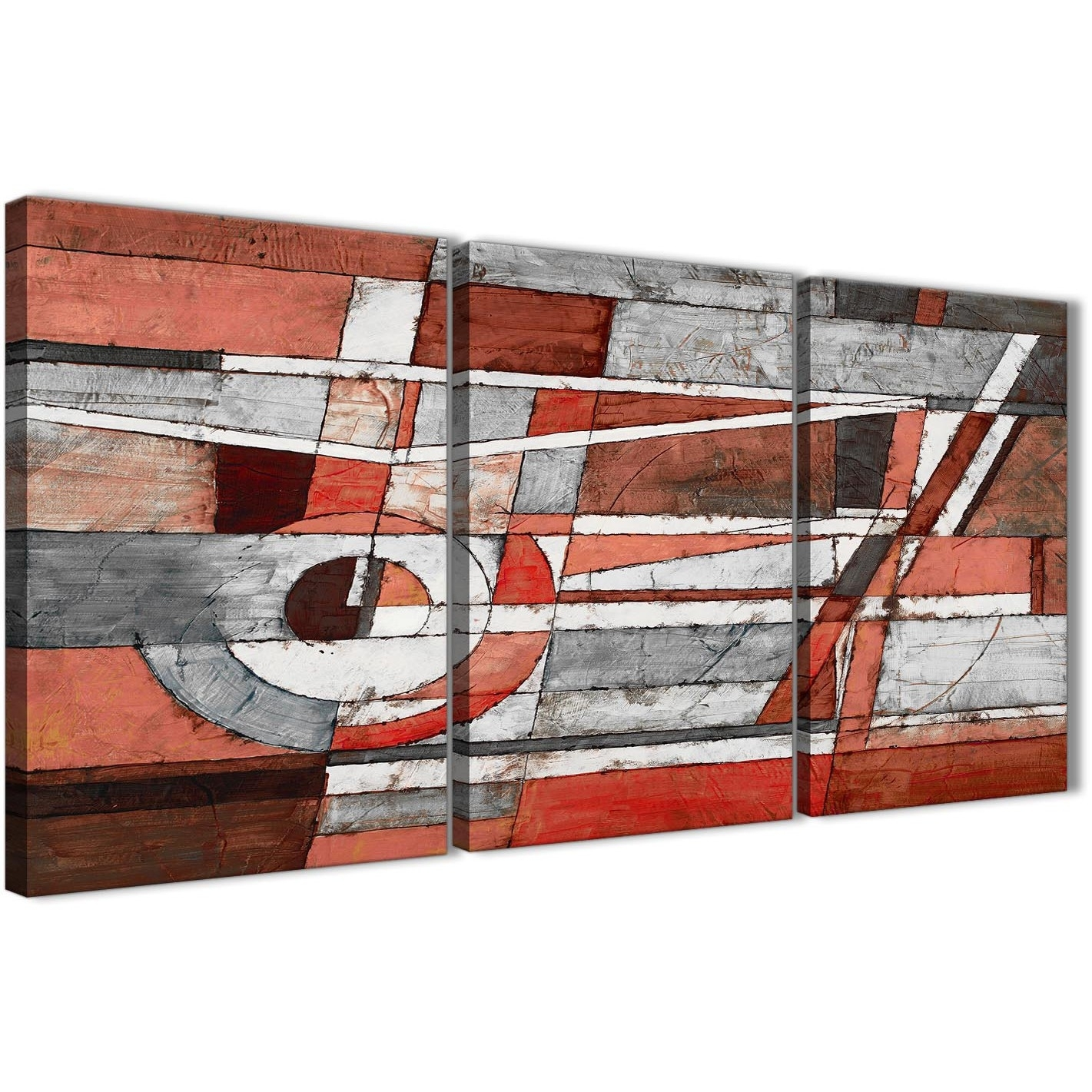 3 Panel Red Grey Painting Living Room Canvas Wall Art Decor Regarding Kitchen Canvas Wall Art (Photo 11 of 20)