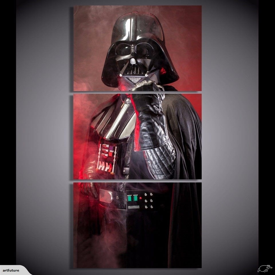 3 Piece Canvas Art Print Home Decoration Wall Picture - Darth Vader inside Darth Vader Wall Art (Image 2 of 20)
