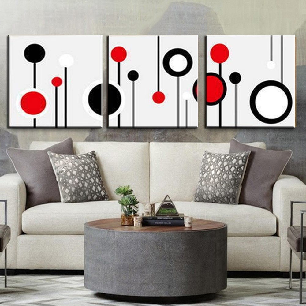 3 Piece Canvas Wall Art Wall Picture Modern Wall Abstract Oil Canvas Within Modern Wall Art (Photo 18 of 20)