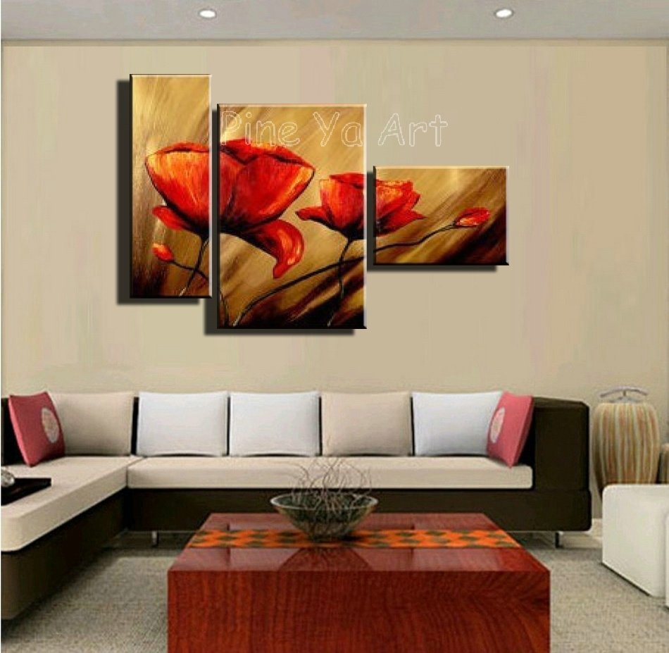 3 Piece Framed Wall Art Floral : Andrews Living Arts – Affordable 3 With 3 Piece Wall Art (View 5 of 20)