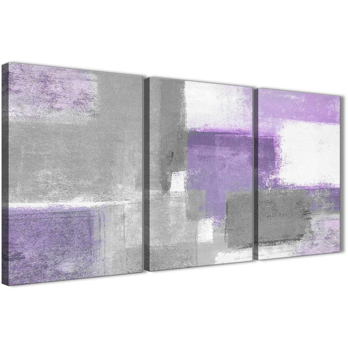 3 Piece Purple Grey Painting Kitchen Canvas Pictures Decor Inside Purple Wall Art (Photo 18 of 20)