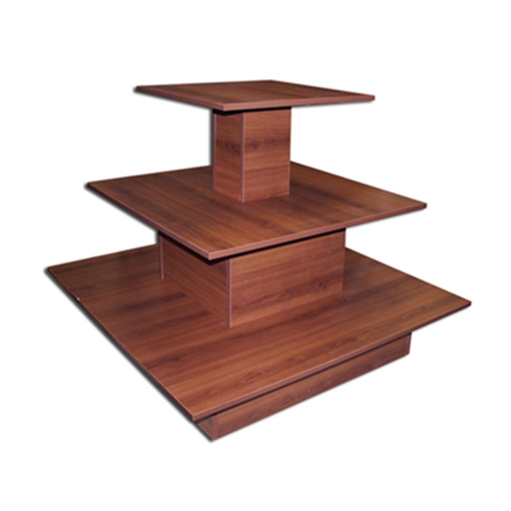 3 Tier Square Waterfall Table Merchandise Retail Display Knockdown with regard to Square Waterfall Coffee Tables (Image 1 of 30)