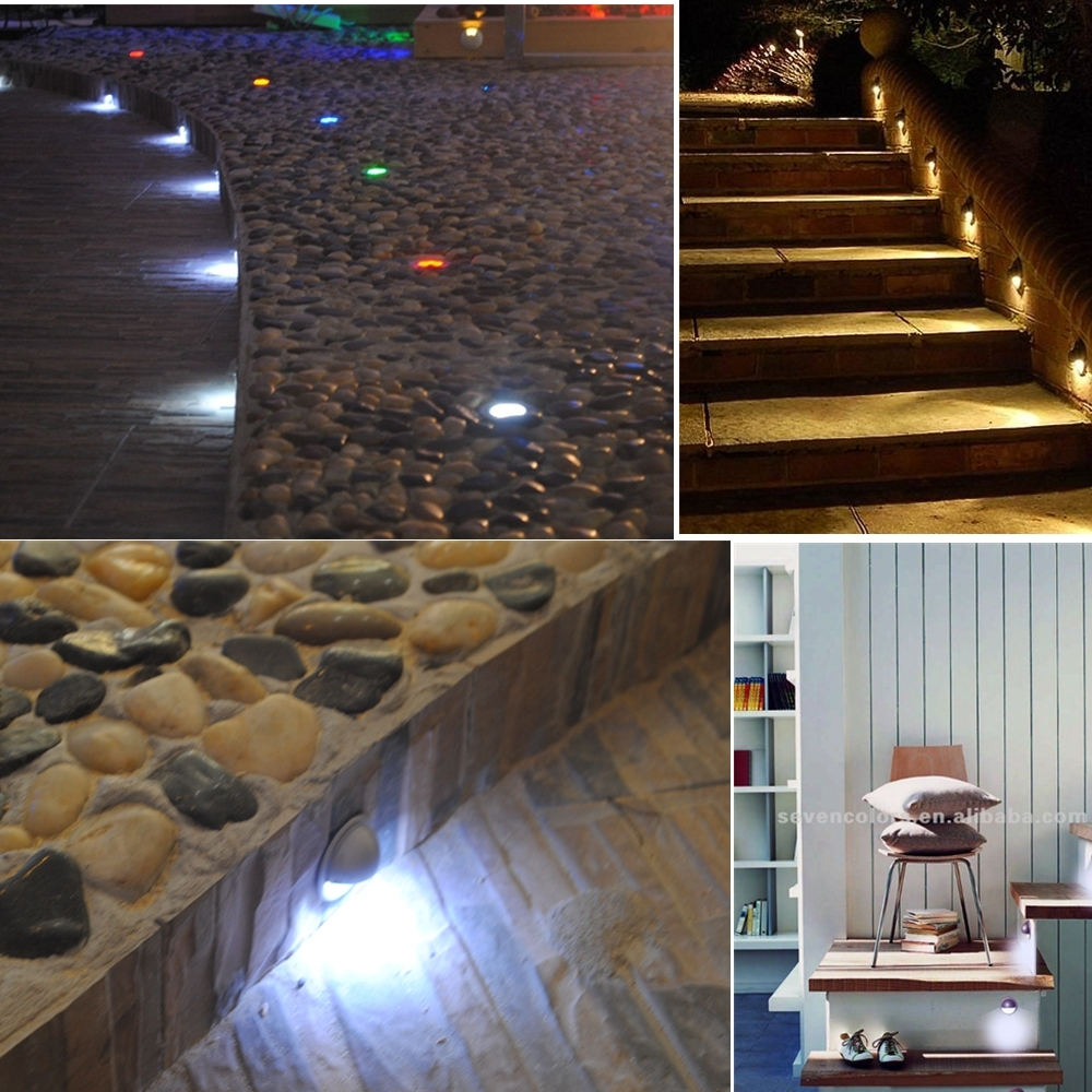 30 Piece Led Outdoor Garden Path Lights – Deck, Stairs, Path Lamps Regarding Outdoor Lanterns For Deck (Photo 11 of 20)