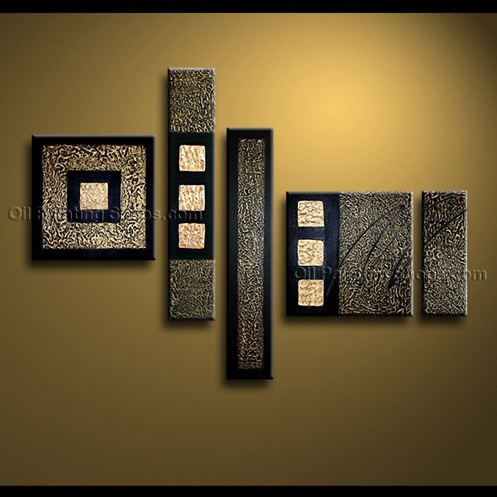 32 Modern Abstract Wall Art, Hand Painted Amazing Modern Abstract In Contemporary Wall Art Decors (Photo 7 of 20)