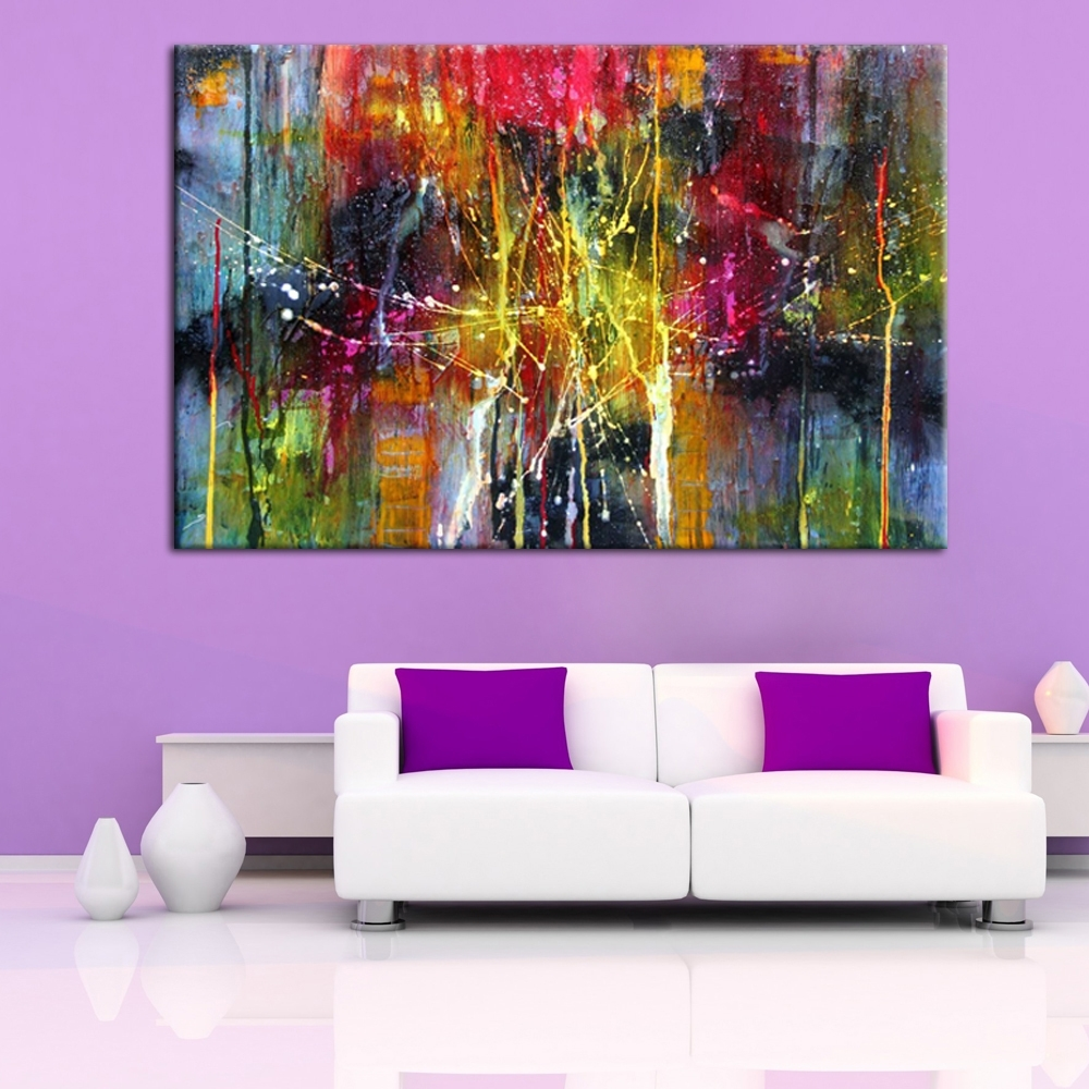 32 Modern Abstract Wall Art, Hand Painted Amazing Modern Abstract pertaining to Abstract Oil Painting Wall Art (Image 8 of 20)