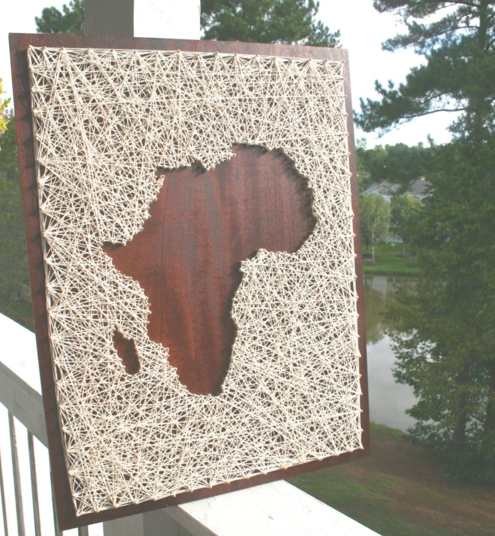 35 Inspirations Of String Map Wall Art Africa Regarding Art. Map Of Within String Map Wall Art (Photo 18 of 20)