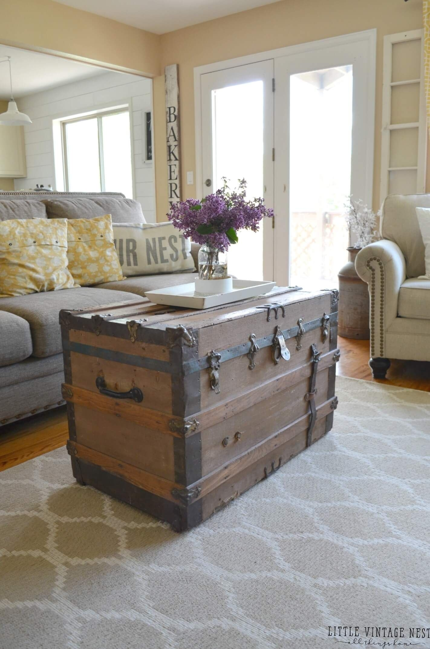35 Rustic Farmhouse Living Room Design And Decor Ideas For Your Home with Large-Scale Chinese Farmhouse Coffee Tables (Image 4 of 30)