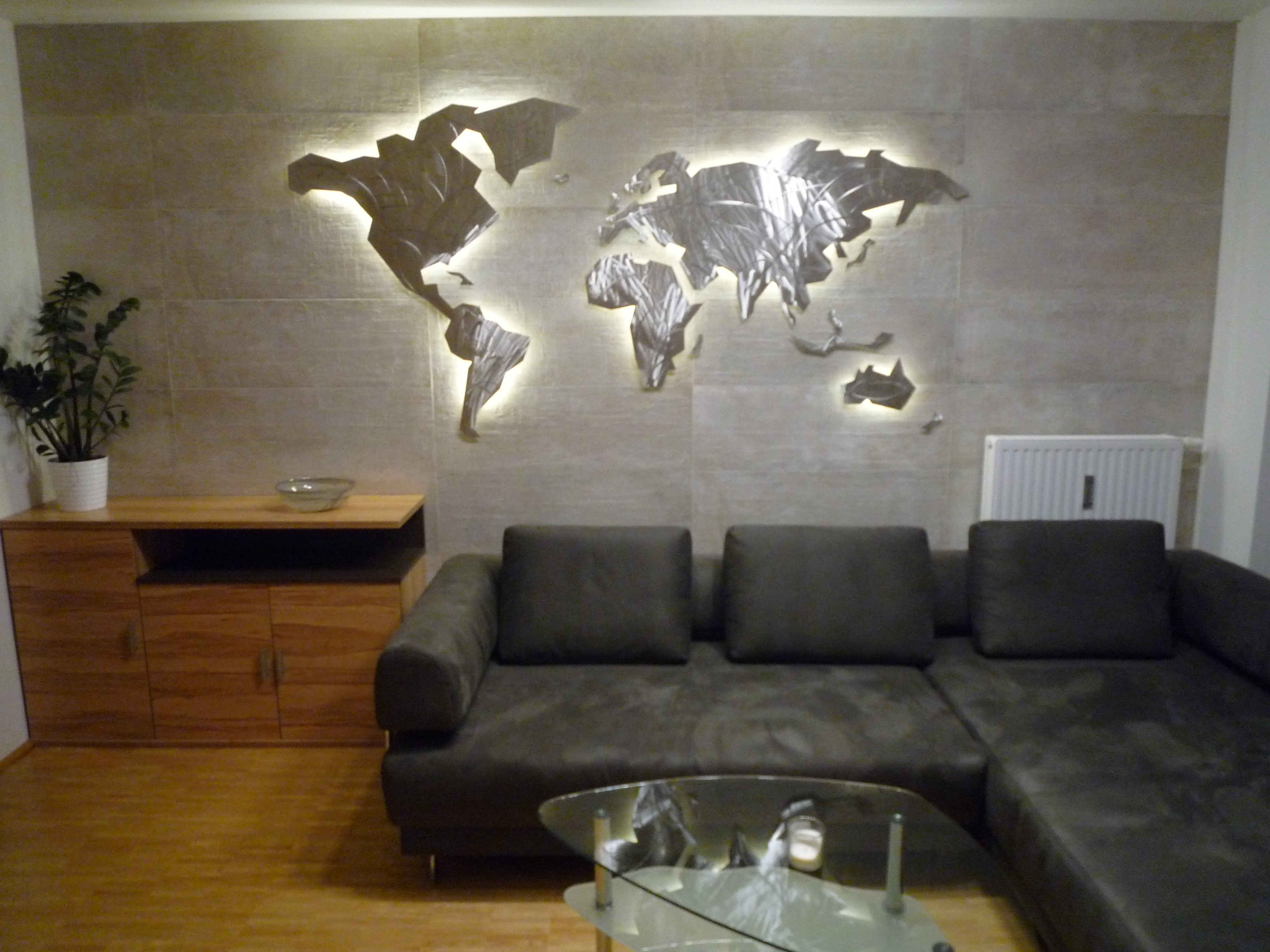 39 Inspirational World Map Wall Art Framed Design Ideas Of Led Wall Pertaining To Led Wall Art (Photo 18 of 20)