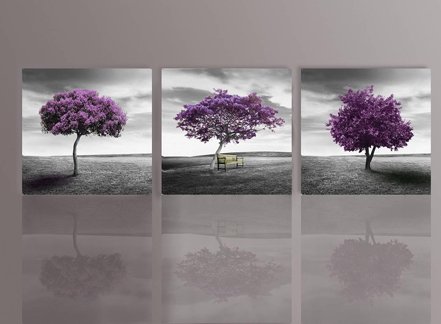 39 Purple And Gray Wall Art, Purple Gray Wall Art Photography Pertaining To Purple And Grey Wall Art (Photo 3 of 20)