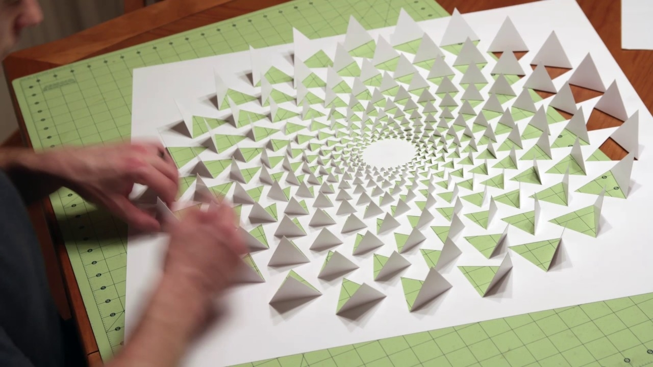 3D Optical Illusion Mandala Wall Art Using One Sheet Of Paper   Youtube Within Paper Wall Art (Photo 6 of 20)