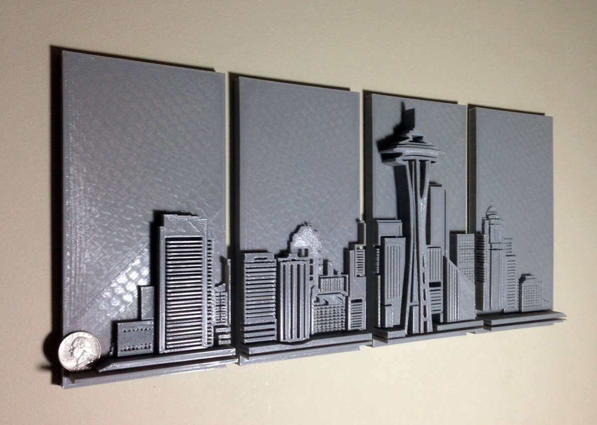 3D Wall Art Decor Elegant Love Seattle Why Not Hang A 3D Printed Pertaining To 3D Wall Art (View 4 of 20)