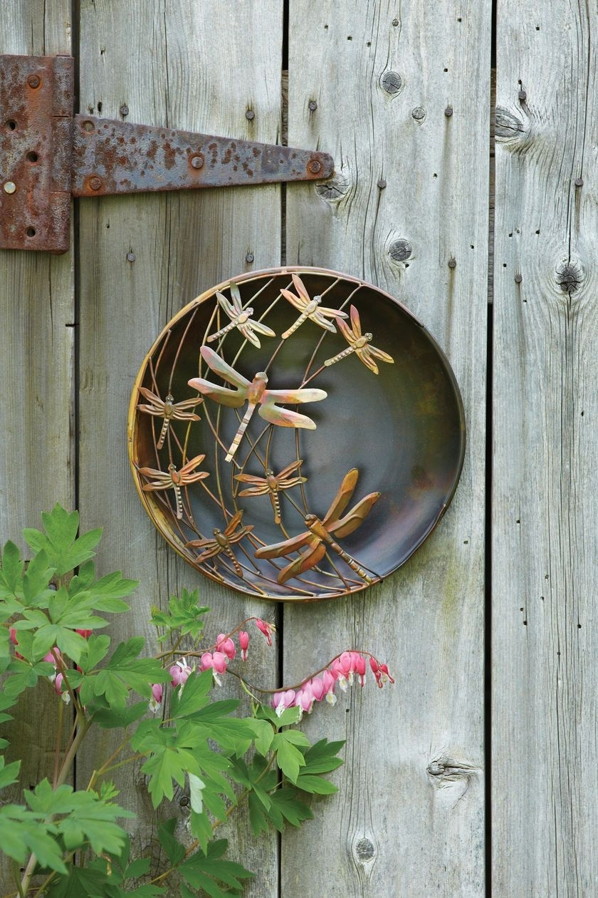 3D Wall Art: Metal Dragonfly Wall Art - Outdoor Metal Wall Art in Outdoor Metal Wall Art (Image 2 of 20)