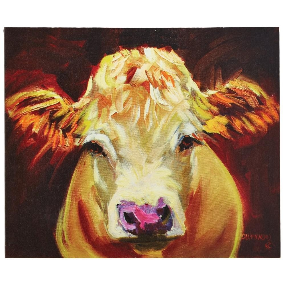 "3R Studios 20.25 In. H X 24 In. W ""one Cow"" Wide Canvas Wall Art In Cow Canvas Wall Art (Photo 5 of 20)"