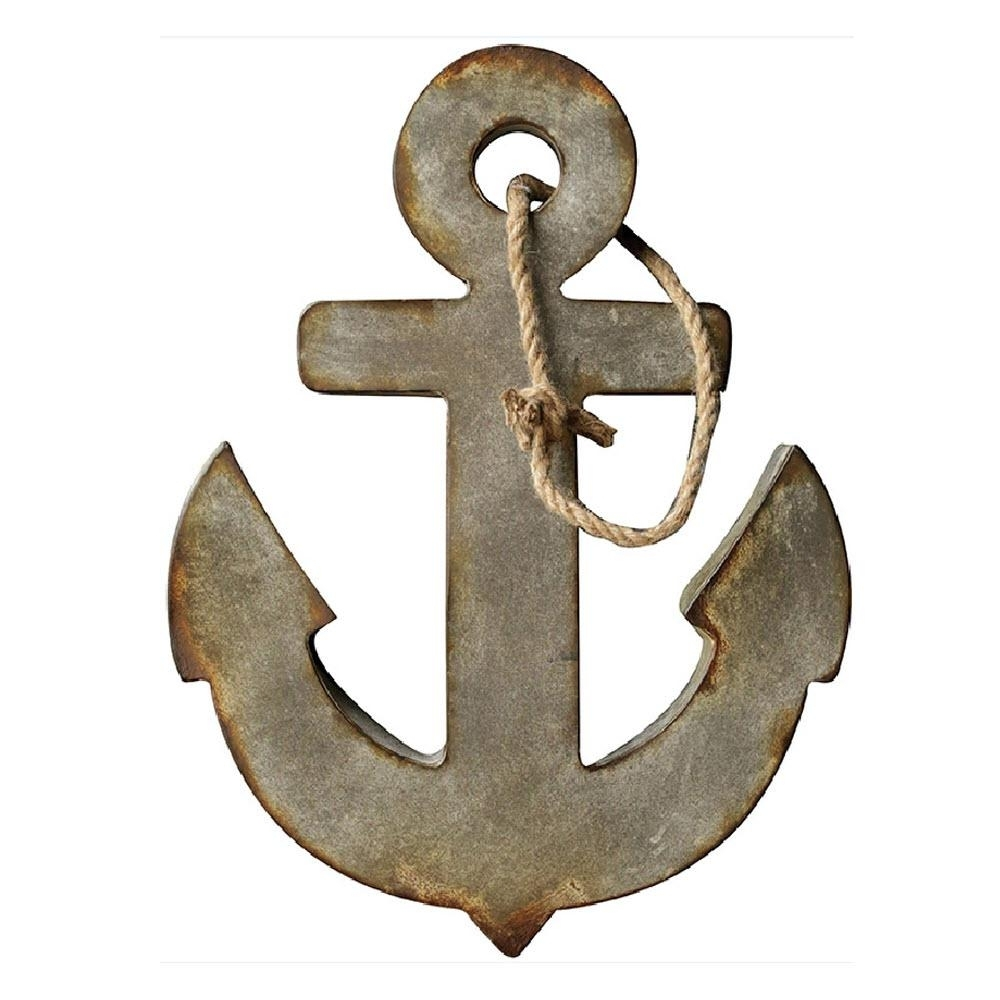 3R Studios 24 In. H X 18.5 In. W Metal Anchor Wall Art-Da4459 - The regarding Anchor Wall Art (Image 3 of 20)