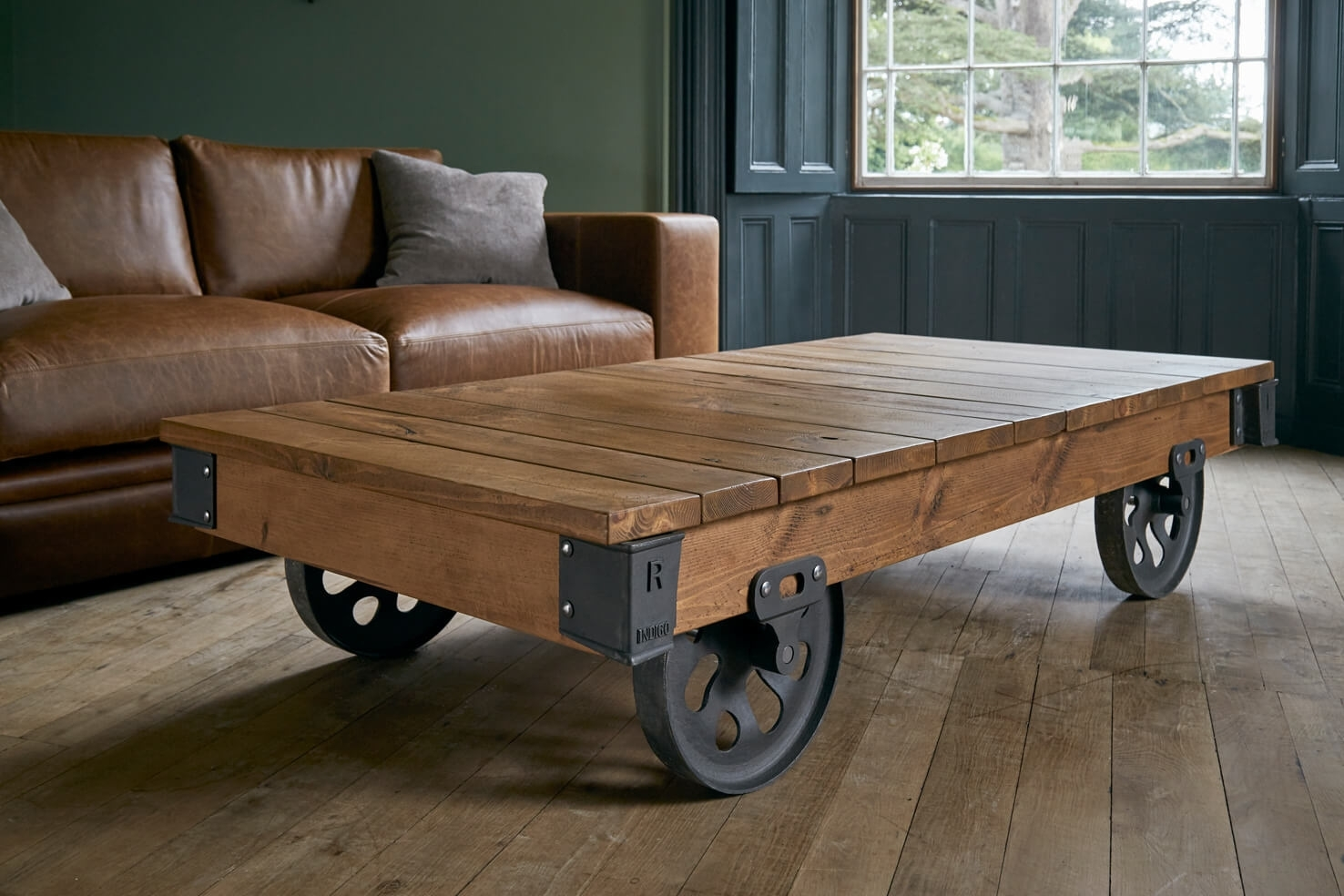 4 Wheel Reclaimed Cart | Indigo Furniture intended for Mill Coffee Tables (Image 1 of 30)