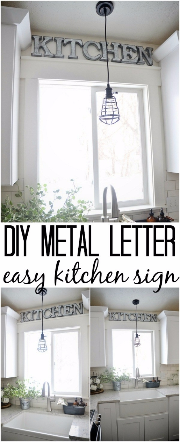 41 Amazing Diy Architectural Letters For Your Walls intended for Metal Letter Wall Art (Image 1 of 20)