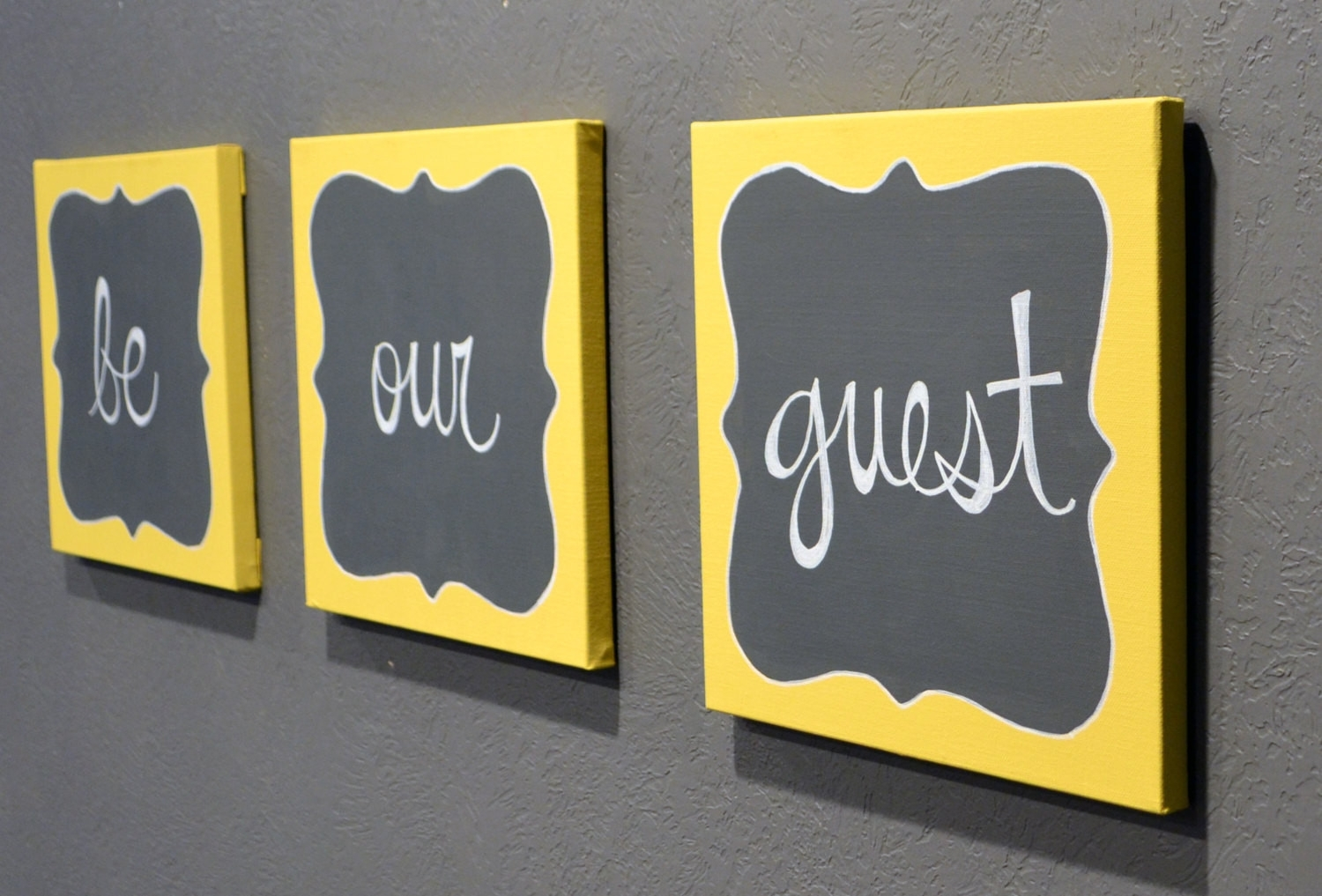 43 Lovely Yellow And Grey Wall Decor | Wall Decor Inspiration For Yellow And Gray Wall Art (View 18 of 20)