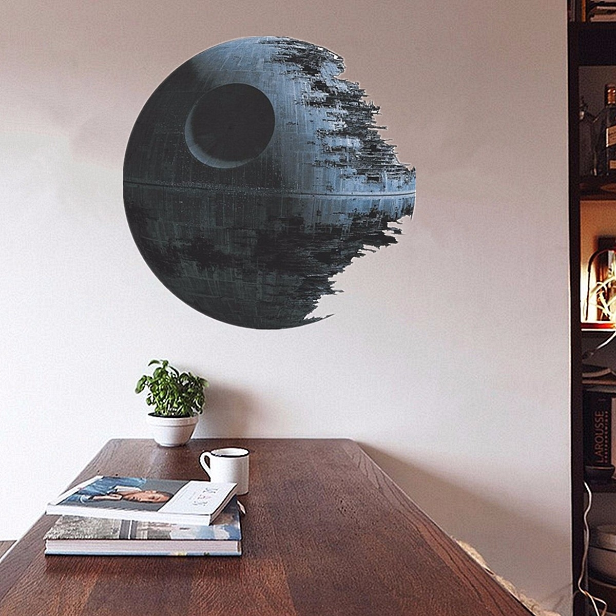 45Cm Removable Death Star Wars Wall Stickers Art Vinyl Decal Kids Intended For Star Wars Wall Art (View 2 of 20)