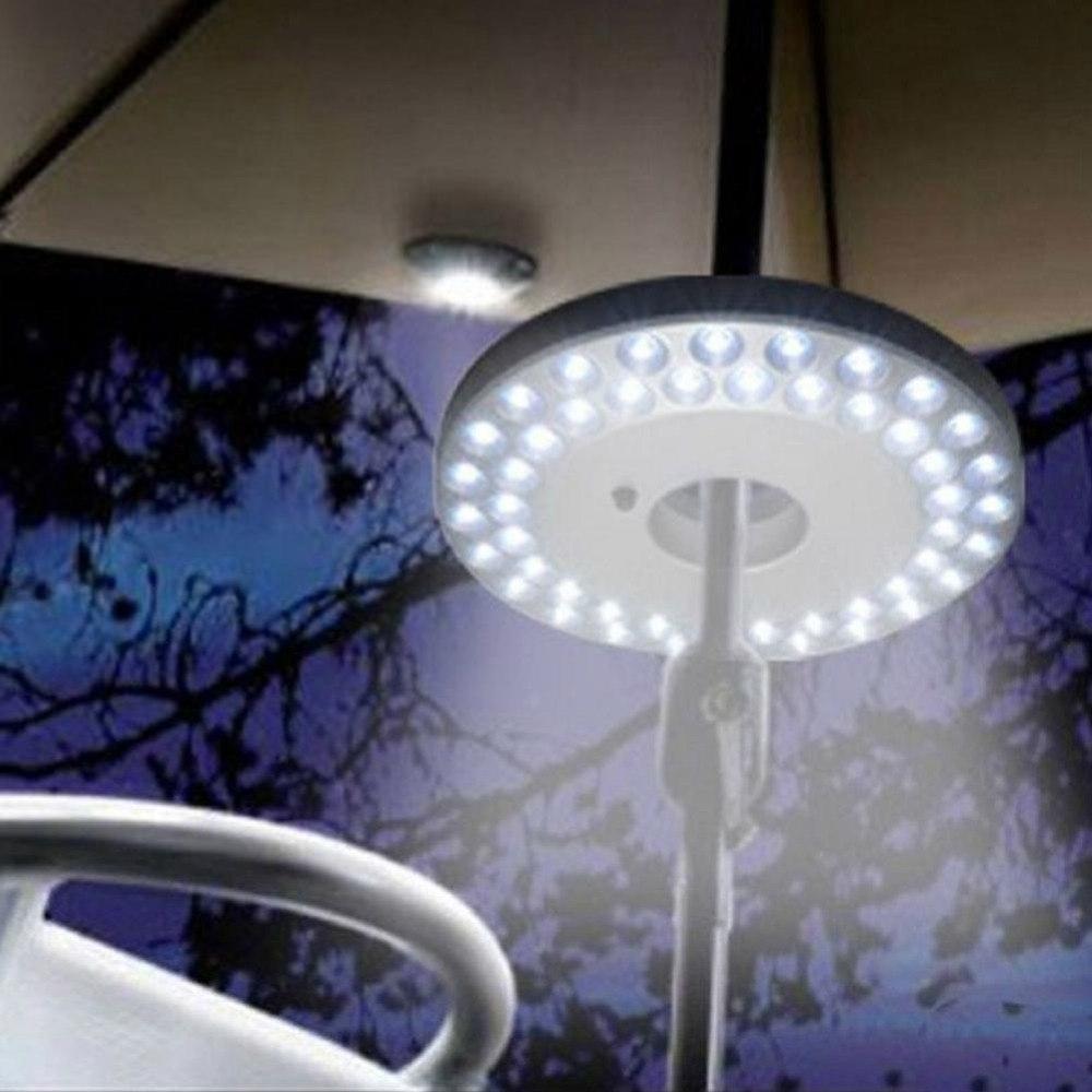 48 Led Outdoor Umbrella Night White Lamp Pole Light Patio Yard pertaining to Outdoor Umbrella Lanterns (Image 1 of 20)