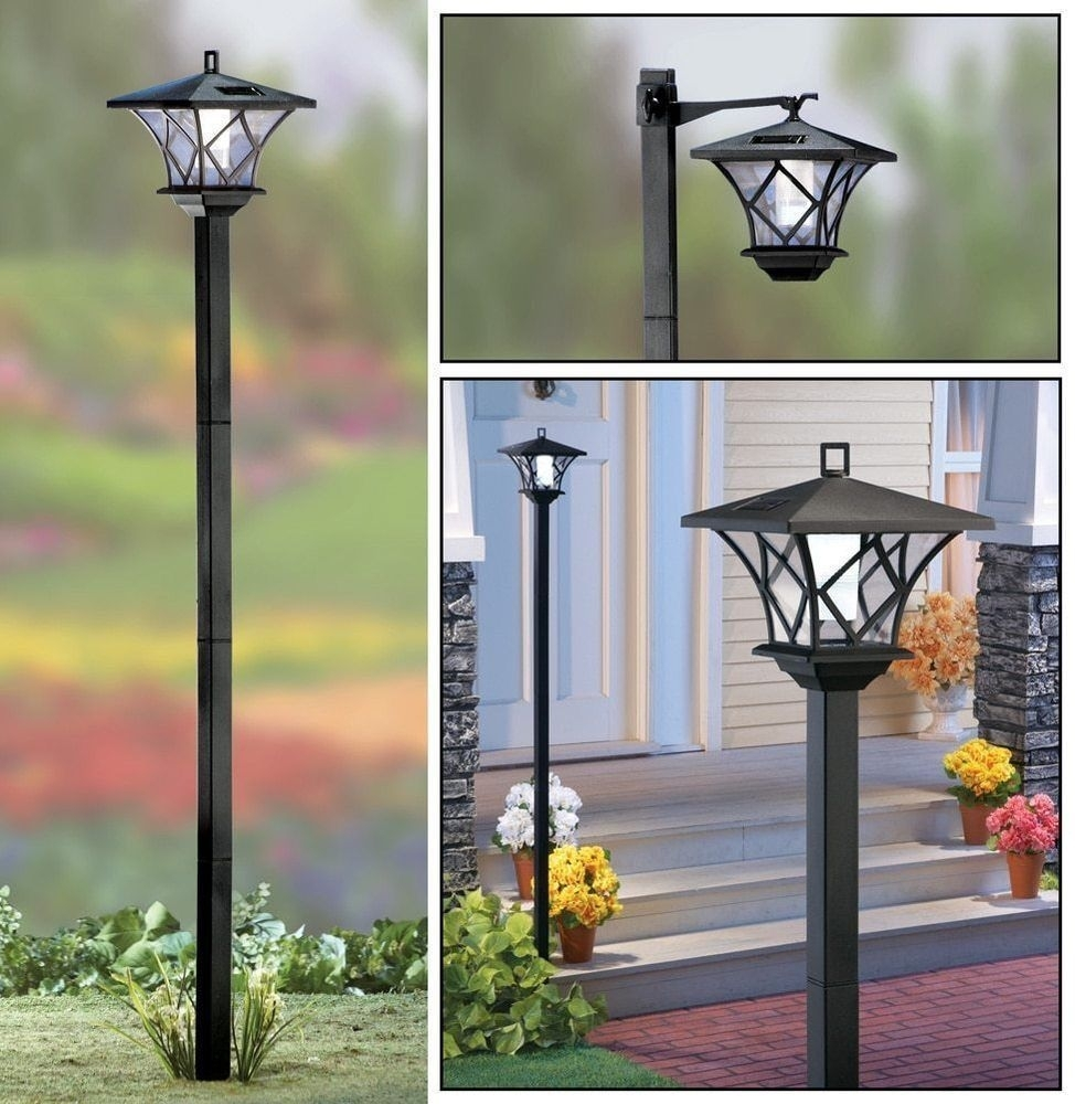5 Ft. Tall Solar Powered 2 In 1 Outdoor Garden Lantern Lamp Post Intended For Tall Outdoor Lanterns (Photo 10 of 20)
