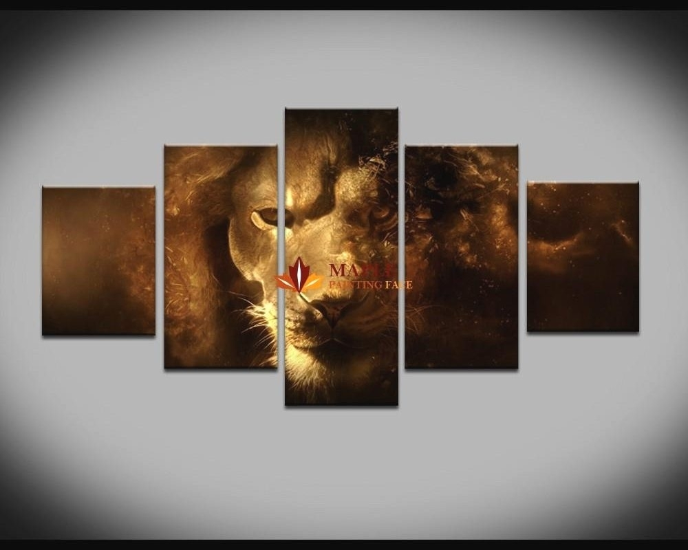 5 Panel Giant Dragon Wall Art Canvas | Halloween Decoration Ideas With Regard To Five Piece Canvas Wall Art (Photo 4 of 20)