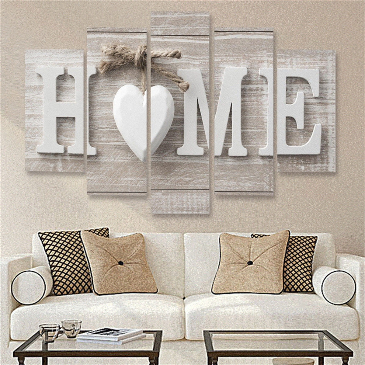 5 Panels Love Home Wall Art Print Pictures Canvas Wall Art Prints Inside Home Wall Art (Photo 1 of 20)