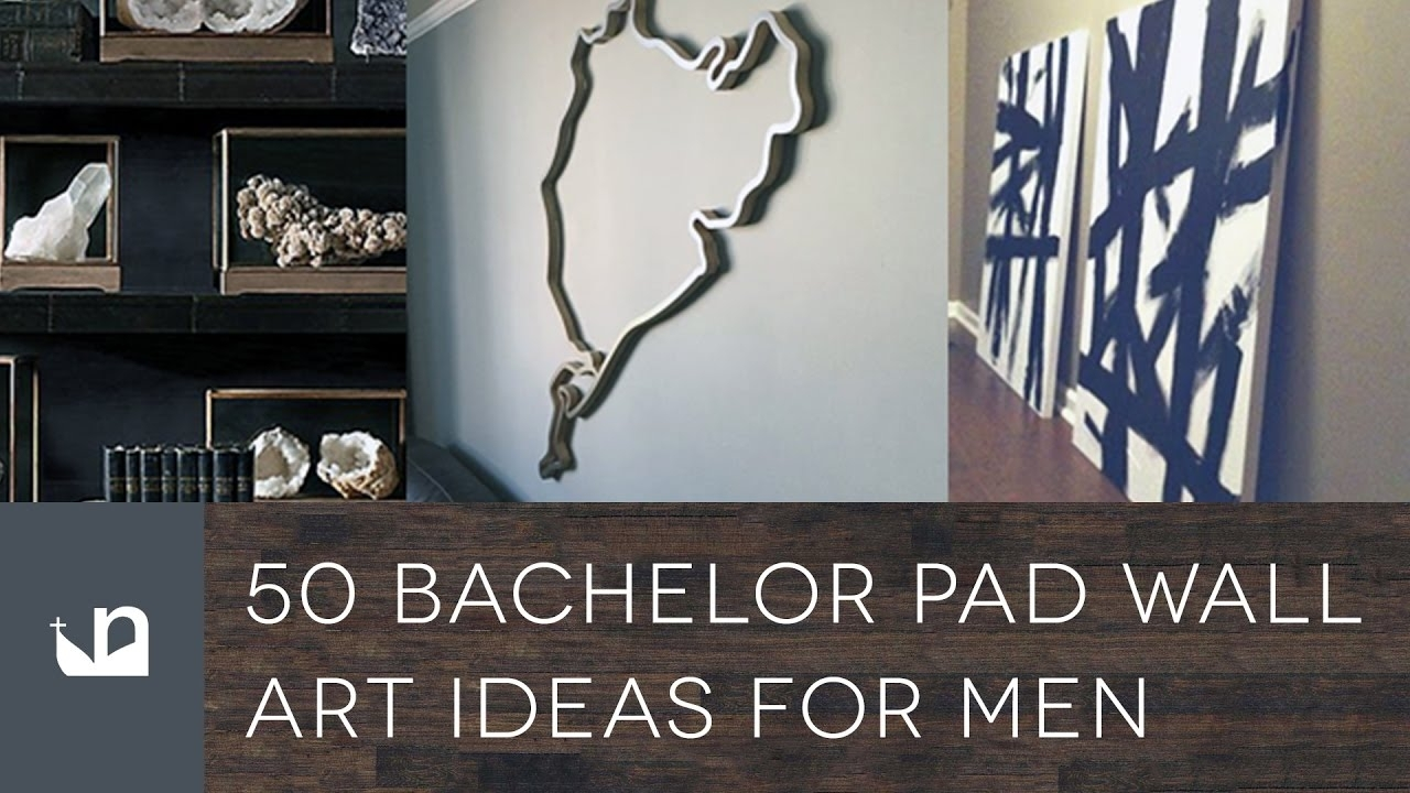 50 Bachelor Pad Wall Art Ideas For Men   Youtube For Wall Art For Men (Photo 7 of 20)