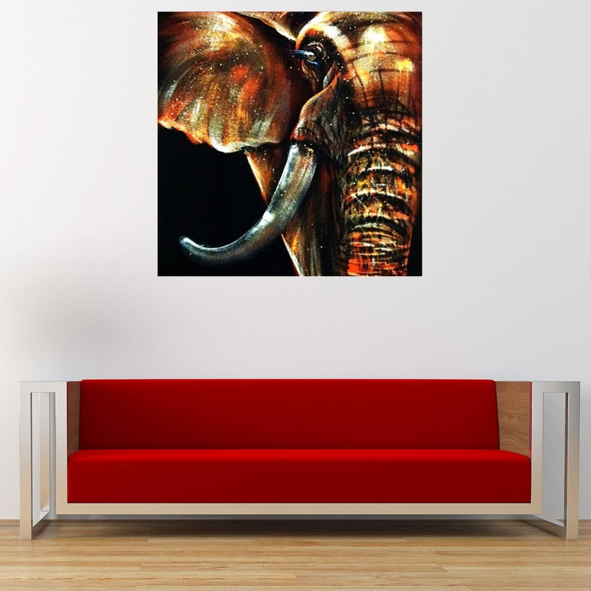 50X50Cm Modern Abstract Huge Elephant Wall Art Decor Oil Painting On For Elephant Wall Art (Photo 12 of 20)