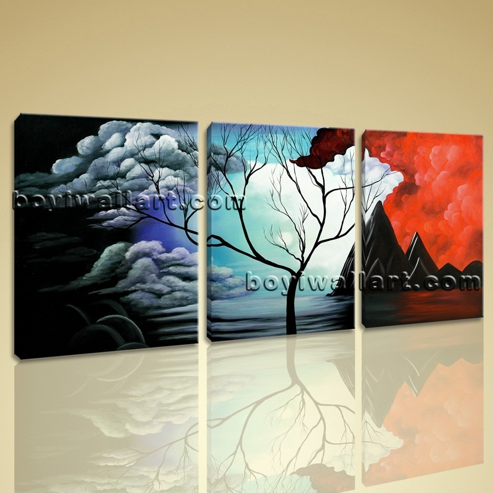 52 Modern Canvas Wall Art, Aliexpresscom : Buy 3 Piece Abstract Wall With Regard To Large Framed Canvas Wall Art (Photo 6 of 20)