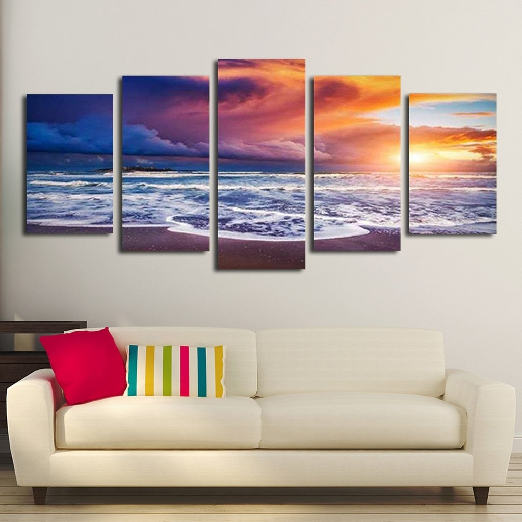 55 Multi Panel Wall Art, Fishing Net Multi Panel Canvas Wall Art with regard to Multi Panel Wall Art (Image 2 of 20)