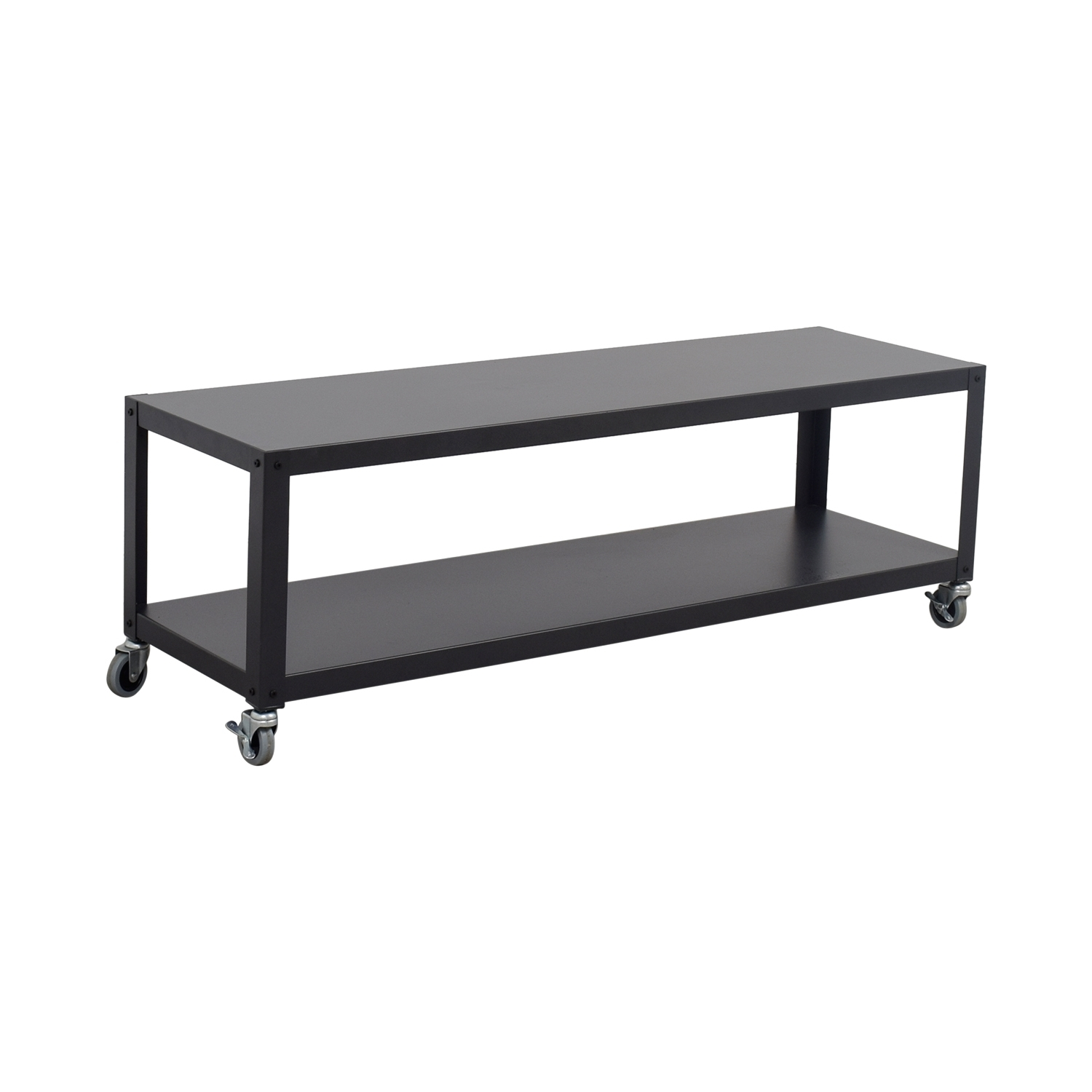57% Off - Cb2 Cb2 Go-Cart Rolling Media Console / Storage inside Go-Cart White Rolling Coffee Tables (Image 2 of 30)