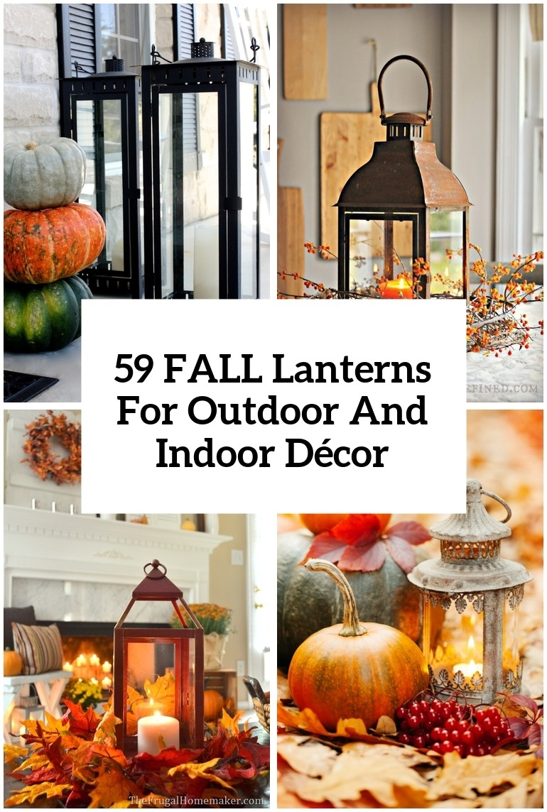 59 Fall Lanterns For Outdoor And Indoor Décor - Digsdigs inside Outdoor Pumpkin Lanterns (Image 4 of 20)
