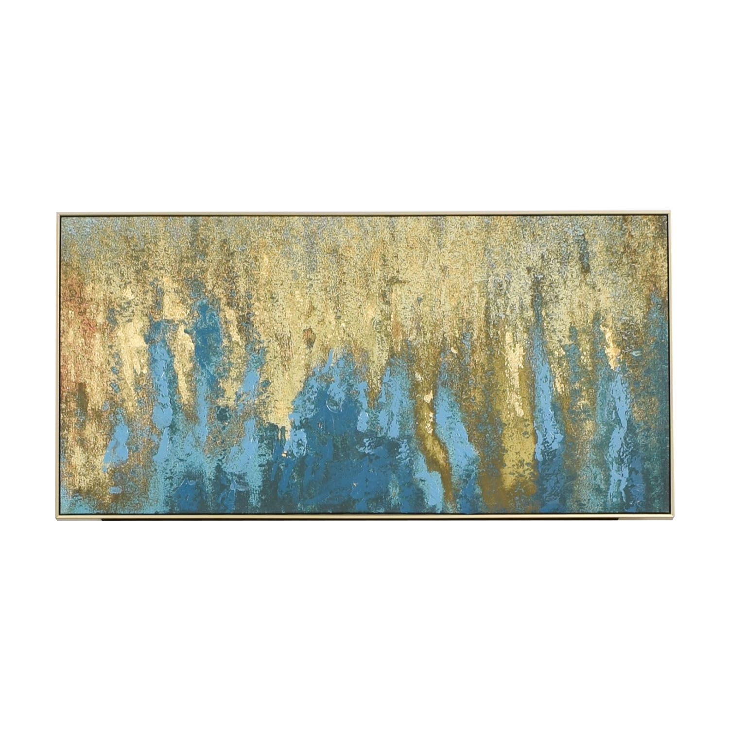 59% Off   World Market World Market Teal & Gold Wall Art In Gold Intended For World Market Wall Art (Photo 3 of 20)