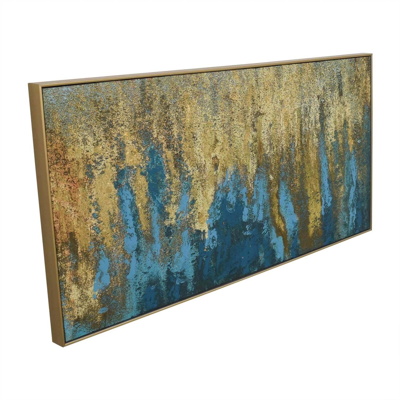 59% Off   World Market World Market Teal & Gold Wall Art In Gold Intended For World Market Wall Art (Photo 1 of 20)