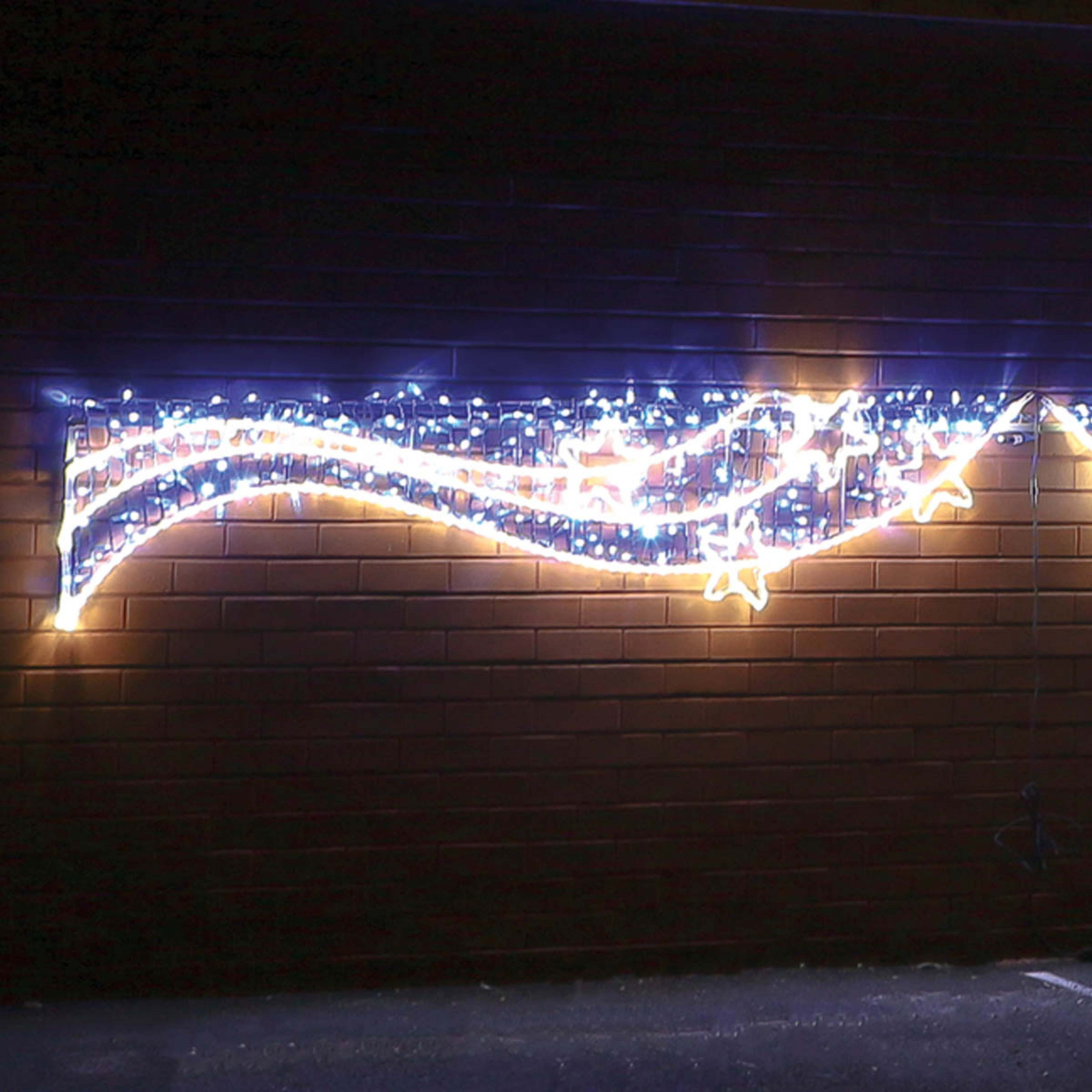 5M Aluminium Outdoor Rope Light Christmas Snowflakes Motif, Twinkle Leds with regard to Outdoor Christmas Rope Lanterns (Image 8 of 20)