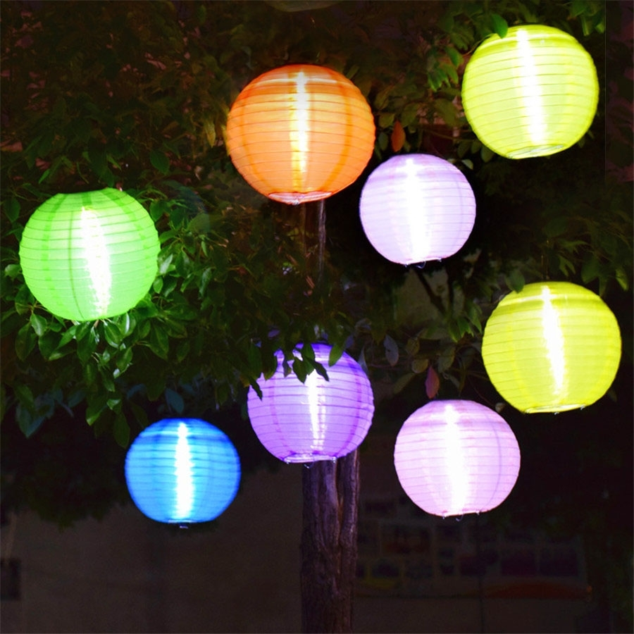 5Pcs Outdoor 25Cm Big Lantern Ball Solar Hanging Landscape Lamps with Outdoor Big Lanterns (Image 1 of 20)