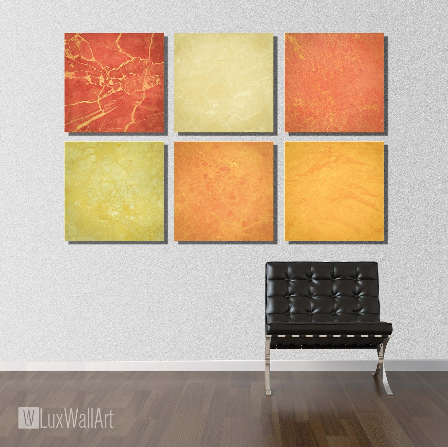 6 Marble Texture Wall Art Metal Prints Contemporary Wall Art in Contemporary Wall Art (Image 2 of 20)