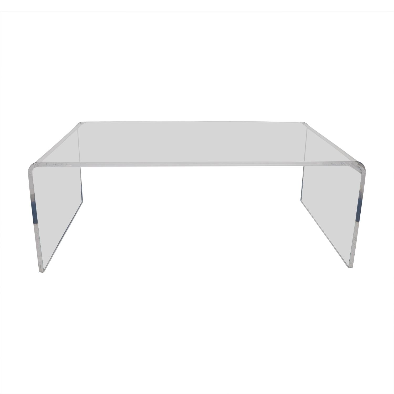 60% Off – Cb2 Cb2 Peekaboo Acrylic Coffee Table / Tables In Peekaboo Acrylic Coffee Tables (Gallery 3 of 30)