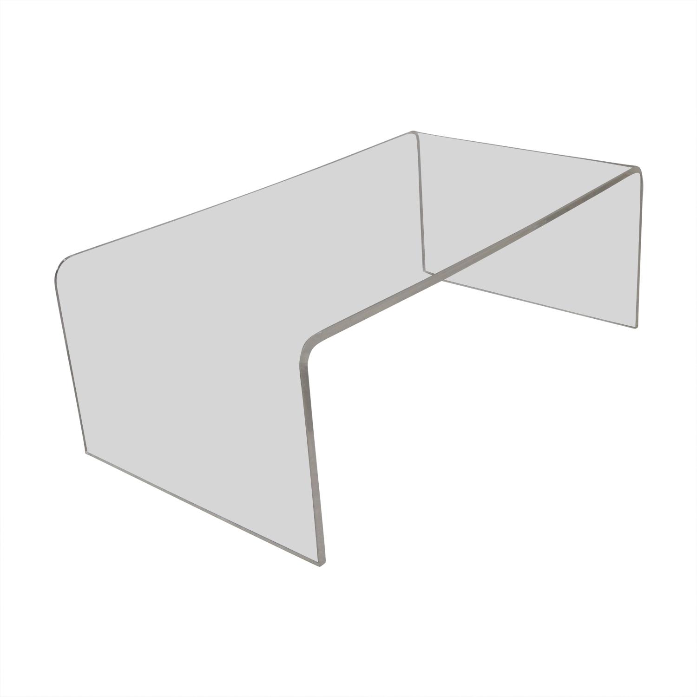 60% Off - Cb2 Cb2 Peekaboo Acrylic Ghost Tall Coffee Table / Tables pertaining to Peekaboo Acrylic Tall Coffee Tables (Image 4 of 30)