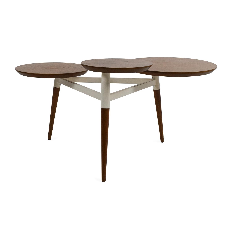 60% Off - Cb2 Cb2 Peekaboo Acrylic Ghost Tall Coffee Table / Tables throughout Peekaboo Acrylic Tall Coffee Tables (Image 7 of 30)