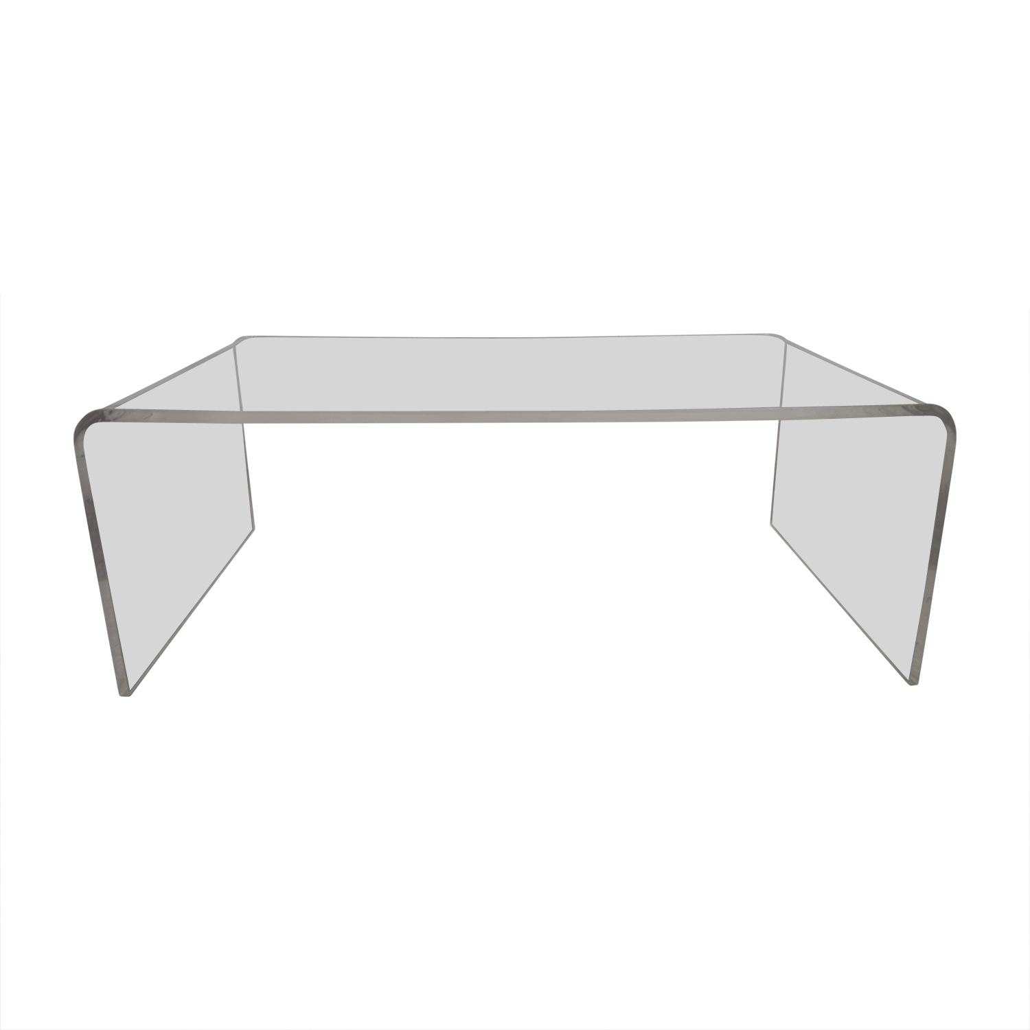60% Off – Cb2 Cb2 Peekaboo Acrylic Ghost Tall Coffee Table / Tables Throughout Peekaboo Acrylic Tall Coffee Tables (Gallery 1 of 30)
