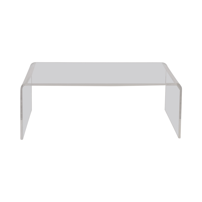 67% Off   Cb2 Cb2 Peekaboo Acrylic Coffee Table / Tables With Regard To Peekaboo Acrylic Coffee Tables (Photo 6 of 30)