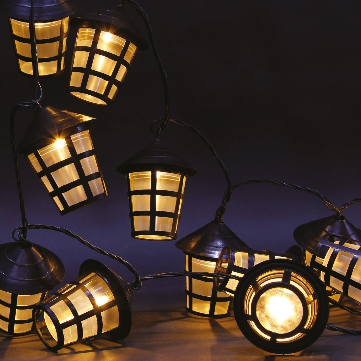 70 Warm White Led Garden Lantern String Lights | This Is It Stores Uk For Outdoor Lanterns On String (Photo 13 of 20)