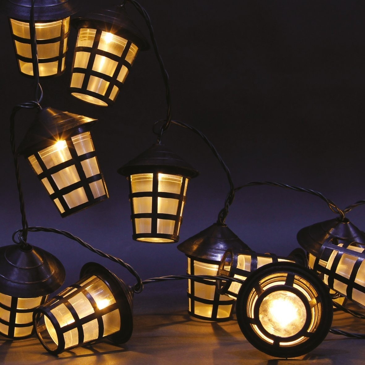 70 Warm White Led Garden Lantern String Lights | This Is It Stores Uk Regarding Outdoor Lanterns With Led Lights (View 11 of 20)